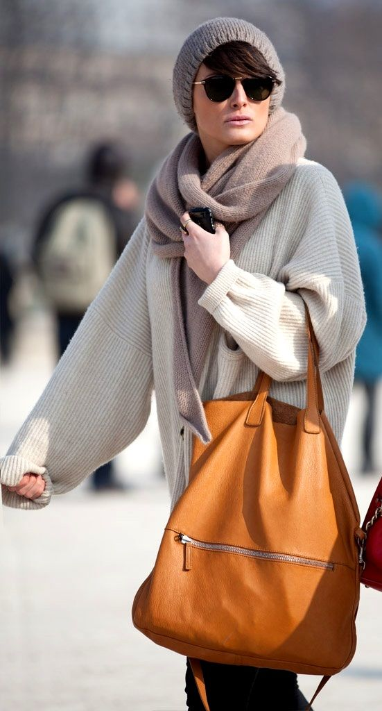 Minimalist - Oversized - Sweetness -Comfortable winter - Trendy parisian look - Streetstyle 2013