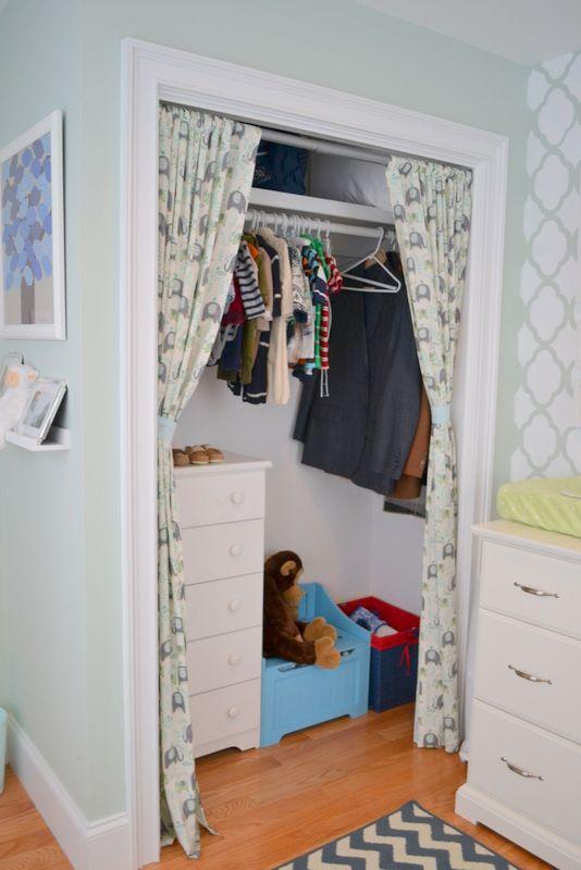 Curtains In Place Of Closet Doors Beaded Closet Doors