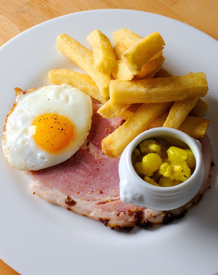 What is great about Josh Eggleton's cooking style is that he is not afraid to cook the simple dishes as well as the more complex ones. This ham and eggs recipe is comfort food at its best, ideal for when you have some honey roast ham leftover.