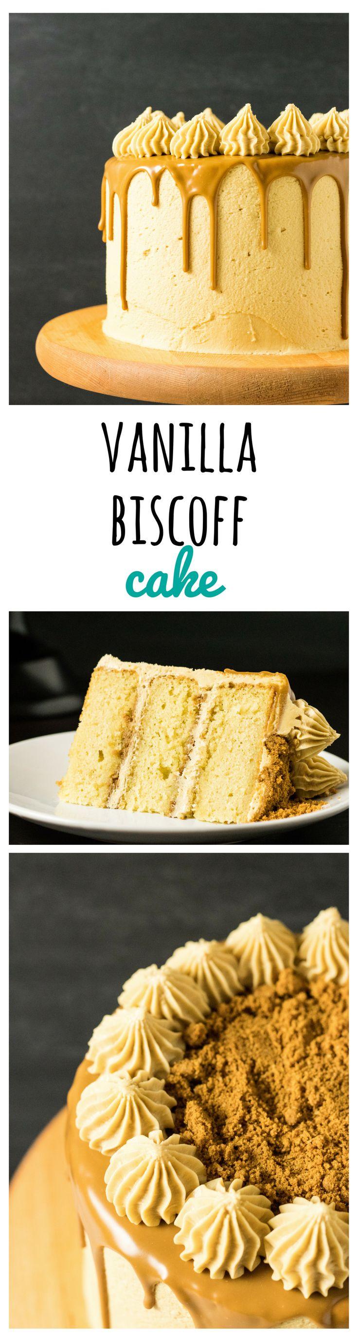 Vanilla Biscoff Layer Cake