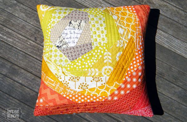 Quilted Pillow From The Fabric Shoppe