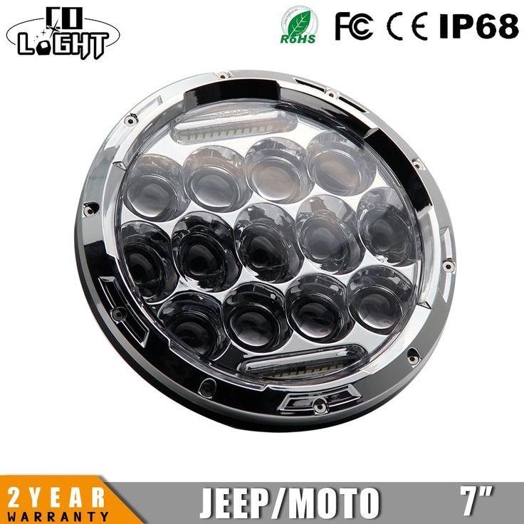 110.20$  Buy here  - CO LIGHT 1 Pair 7'' Headlamp H4 High & Dipped Beam Turn Signal Drl 75w Cars Running Lights Drls for Auto Jeep Wrangler JK TJ 4x4