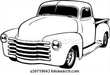 old truck drawing clipart