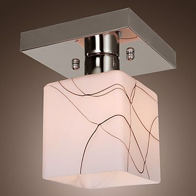 Stainless Steel Ceiling Light in Cube Shape – AUD $ 48.14