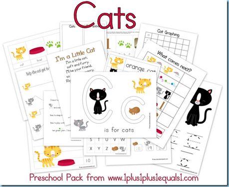 C is for Cat {Cats Preschool Pack}