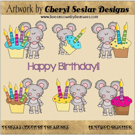 Scruffy #Mouse #HappyBirthday #Clipart