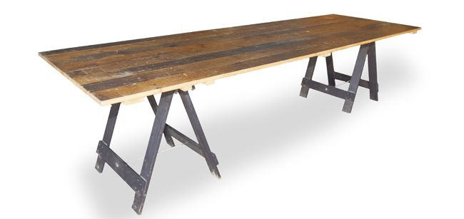 Vintage Timber Trestle Table - South Coast Party Hire