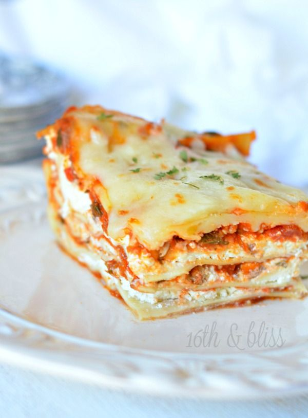 Cream Cheese Lasagna recipe. This is a fun change from your regular lasagna recipe and gets rave reviews! It's easy to make and definitely a crowd pleaser!