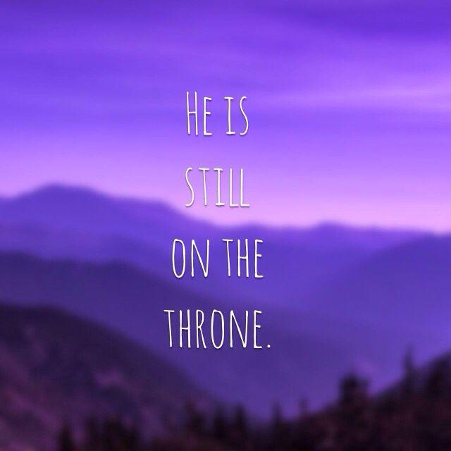 Still on the throne.