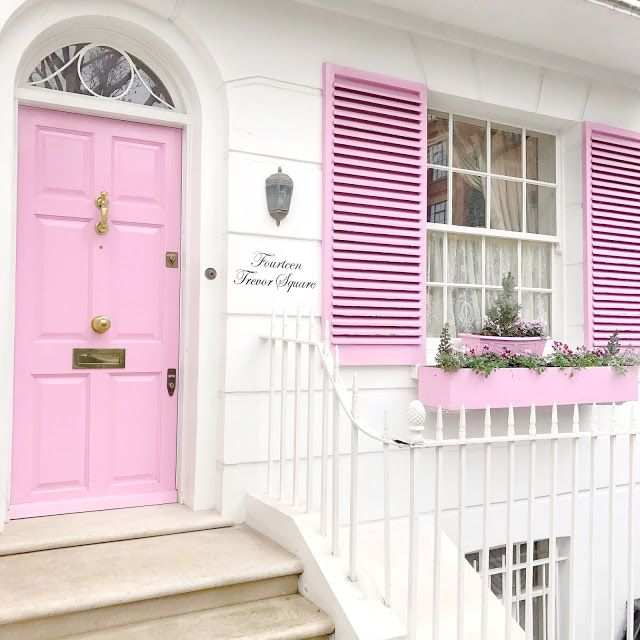 Love, Catherine | 14 Trevor Square, Girliest Pink House!