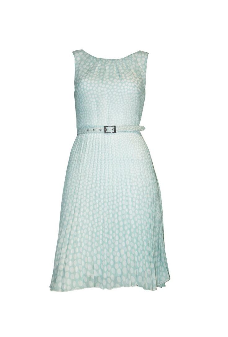 Pleat Spot Dress — Maxshop.com