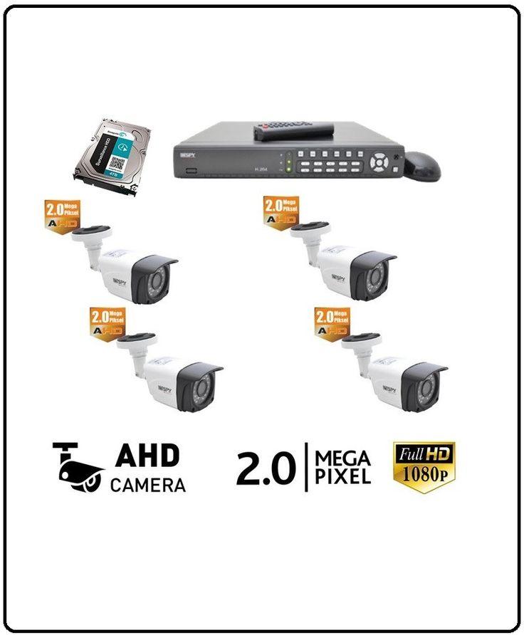 4 Kameralı Pro Güvenlik Seti | Kurulum Dahil