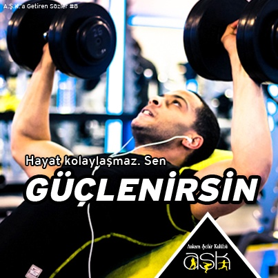 """Hayat kolaylaşmaz. Sen """"GÜÇLENİRSİN""""    #fitness #motivasyon #ankara #Çankaya #spor #sağlık #Ankara Şehir Kulübü #vücut geliştirme"""