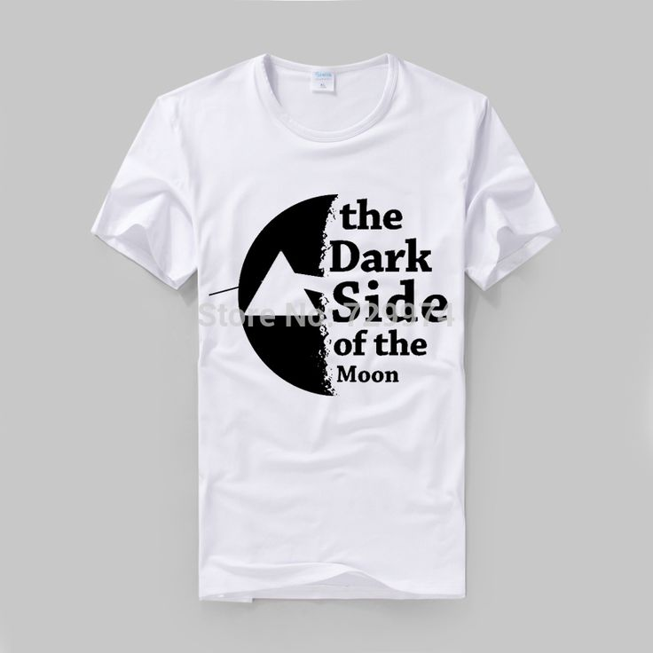 dark side of the moon classic black and white printing logo pink floyd rock t shirt #Affiliate