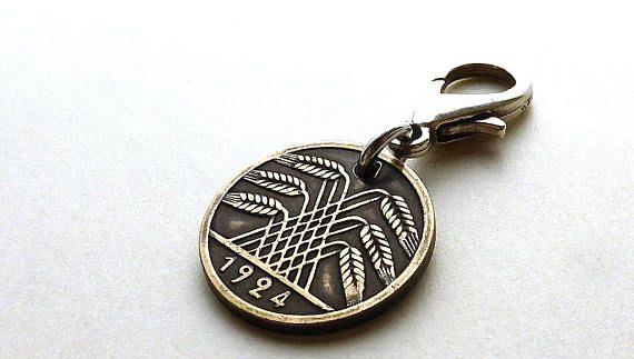 German Zipper charm Vintage charm Purse charm Coin charm