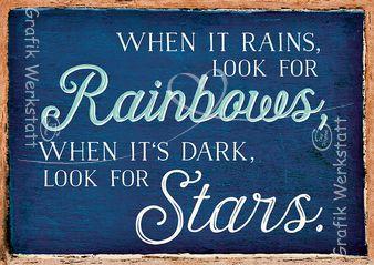 Rainbows & Stars - Postkarten - Grafik Werkstatt Bielefeld
