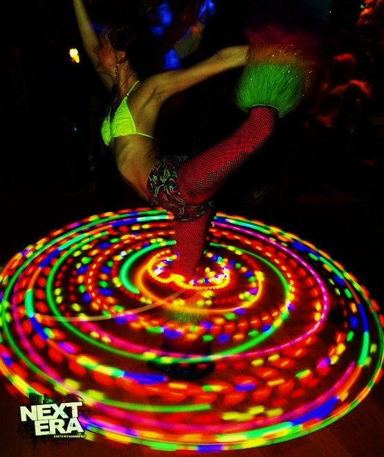 38 LED Hula Hoop // Caribbean Strobe by CitivaCreationz on Etsy, $85.00