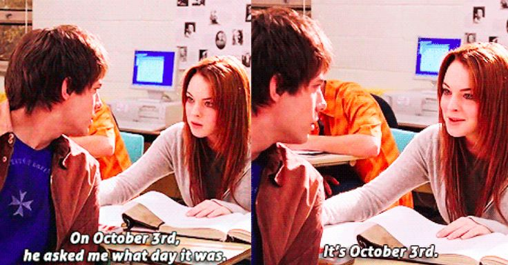 """What day is it?"" ""It's October 3rd."""