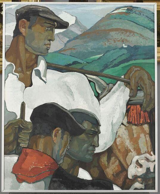 Robert BEAT portrait d'Hommes Basques