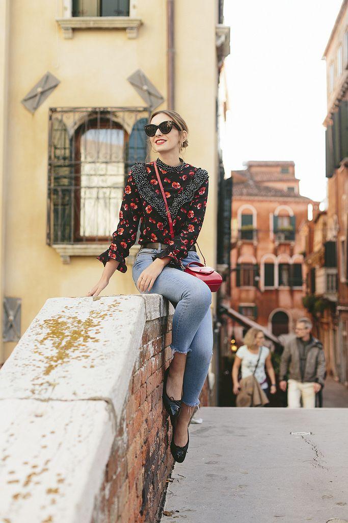 (Glasses: Celine , Blouse: Topshop , Jeans: Topshop  (Binx but similar here ), Shoes: Chanel , Bag: Lulu Guinness , Belt: Madewe...