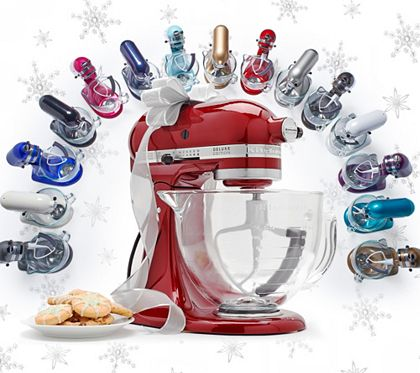 From homemade cookies to mashed potatoes and more, this five-quart Kitchen Stand Mixer brings something special into your kitchen. And with holiday baking and entertaining in full swing, you can treat yourself--or your favorite foodie--to the ultimate food-prepping tool.<br><br>A baker's dream. Finished in a smart, high polished color of your choice, this tilt-head stand mixer boasts 10 speeds and a 325-watt motor that keeps up with you in the kitchen. The planetary mixing action of the…