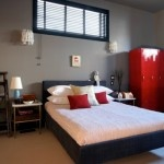 black ,white and red bedrooms