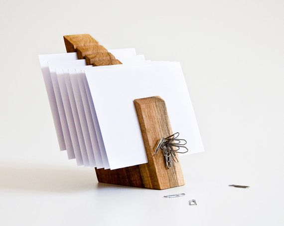 Letter Holder Wood Mail Organizer Desk Organization OSCAR $74