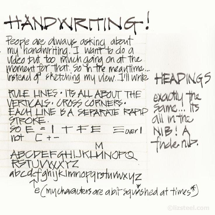 My Architects Handwriting Liz Steel