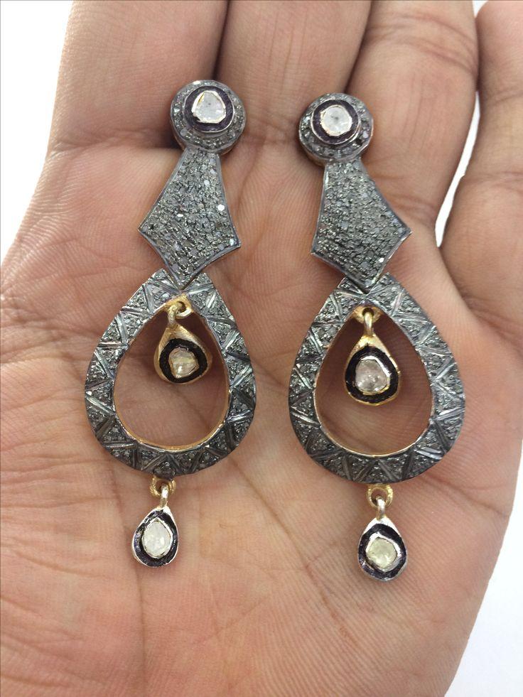 Natural polki and chakri diamond Victorian earring. Ask price in Dm . Shipping world wide true Normal and express fast courier. #unitedstates #dubai #bahrain  #america #spain #turkey #istanbul #iran #germany #california #newyork #boston #costarica #australia #england #france #canada #lebanon  #paris #italy #romania #ashmarjewelry #texas #newhampshire #miami #florida #brazil #russia #chile #portugal