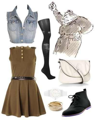 Looks from Books: Roald Dahl's novel Matilda - Outfit 3 - Miss Agatha Trunchbull