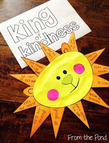 Frog Spot: Kindness Day Craft Freebie. What a sweet idea and great for fine motor skills too!