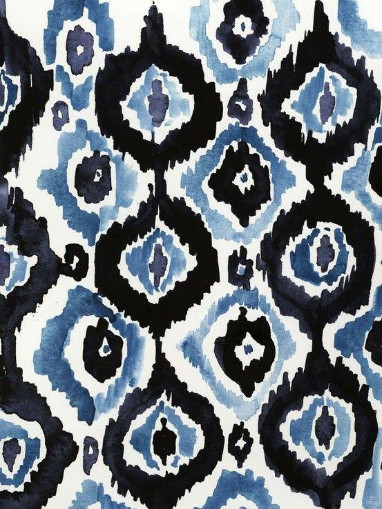 ikat: Watercolor, Colors, Ikat Prints, Art Prints, Cool Backgrounds, Fabrics, Blue Patterns, Textiles Patterns, Ikat Patterns