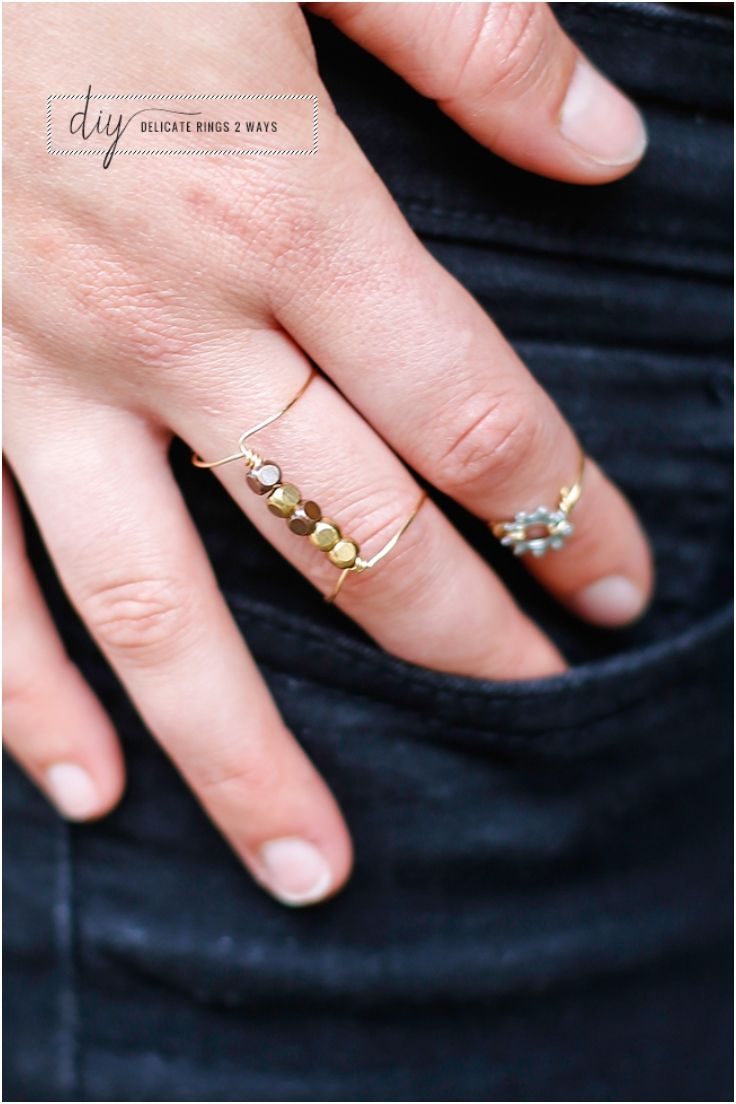 Top 10 Lovely DIY Wire Rings Extra gift when attached to gift card.