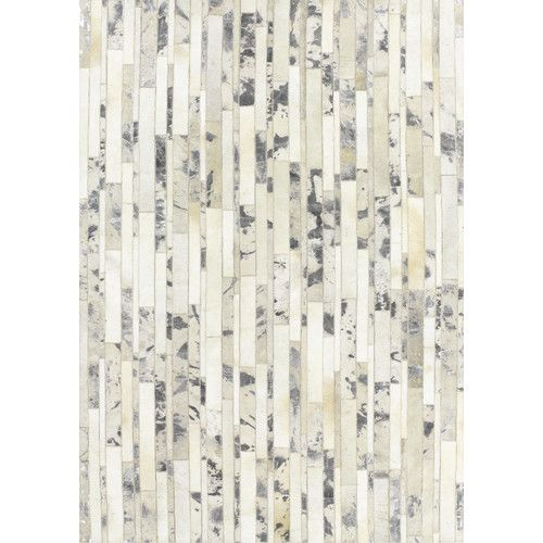 Star Hand-Woven White Area Rug