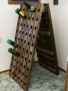 Wine Riddling Rack Wood A-Frame Winerack 120 Bottle Handmade