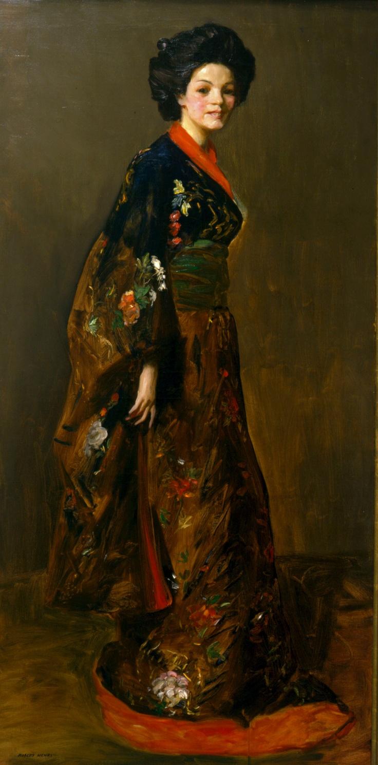 The BlueKimono  1909  Henri, Robert  Oil on canvas