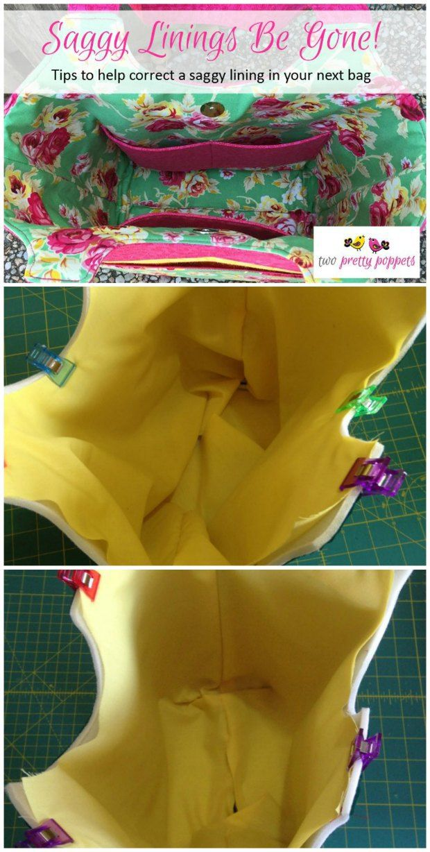 How to fix or avoid saggy bag linings