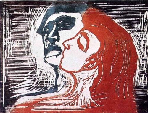Man and Woman I - Edvard Munch, 1905: 1905 Munch, Munch Paintings, Woman Woodcut, Art Mixed, Woman 1905, Artworks Tags, Munch Museums, Art Galleries, Edvard Munch