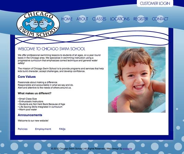 Chicago Swim School website launch