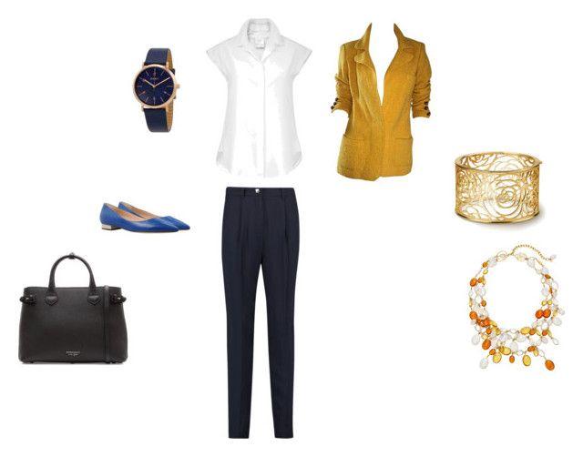 собеседование - боулинг с друзьями by pekd-1 on Polyvore featuring мода, Adolfo, Versace, Burberry, Loulou De La Falaise and DKNY