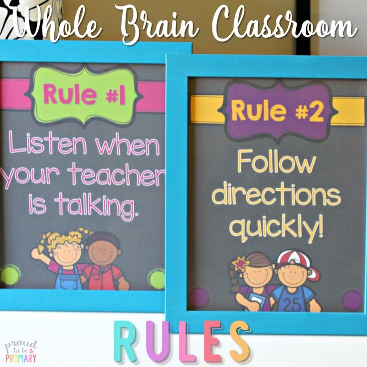 Teach children the whole brain rules that are active, fun, and help them retain the important classroom rules! Head here for FREE printable posters!