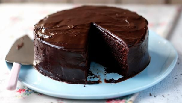 Easy chocolate cake |      Perfect for birthdays, this is a great recipe for an easy, foolproof chocolate cake. It's moist and fudgy and will keep well for 4-5 days.