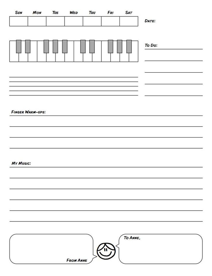17 Best images about Piano on Pinterest Gloves, Activities and Student - line sheet template download