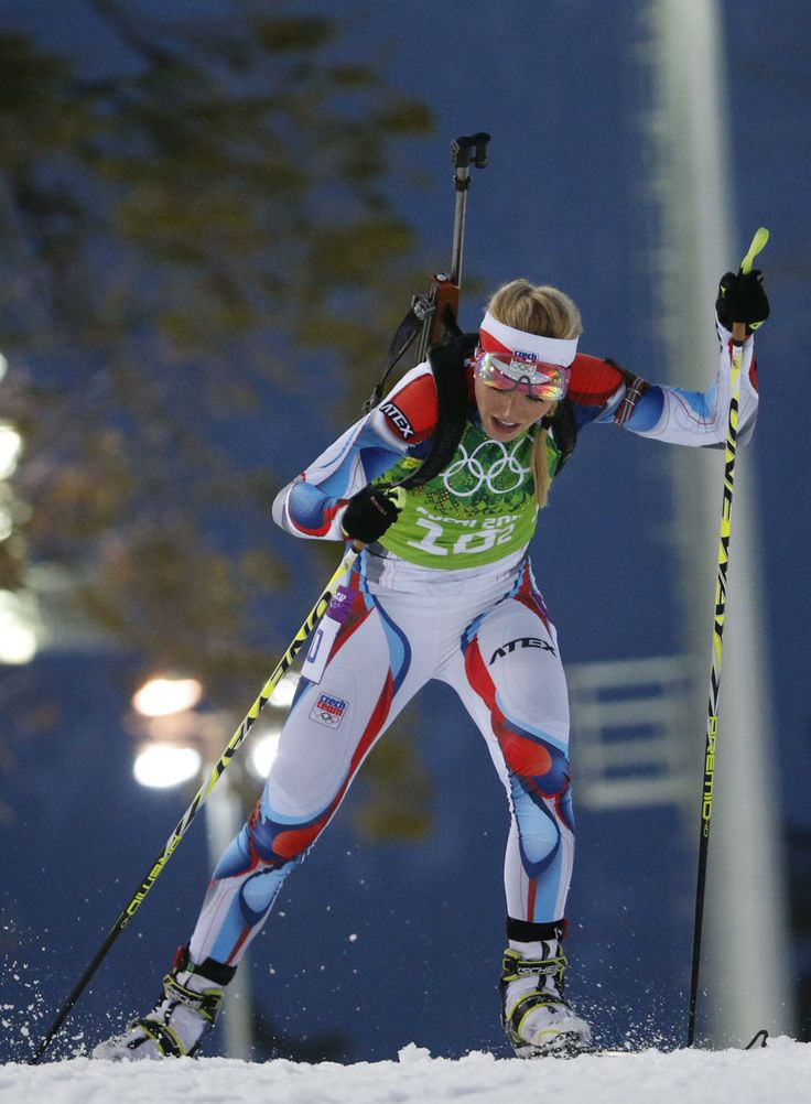 DAY 15:  Gabriela Soukalova of the Czech Republic competes during the Biathlon Women's 4x6km Relay http://sports.yahoo.com/olympics