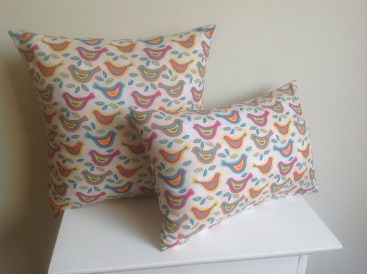 Pair of brand new handmade cushions. Zip covers and 100% cotton. $55 SOLD