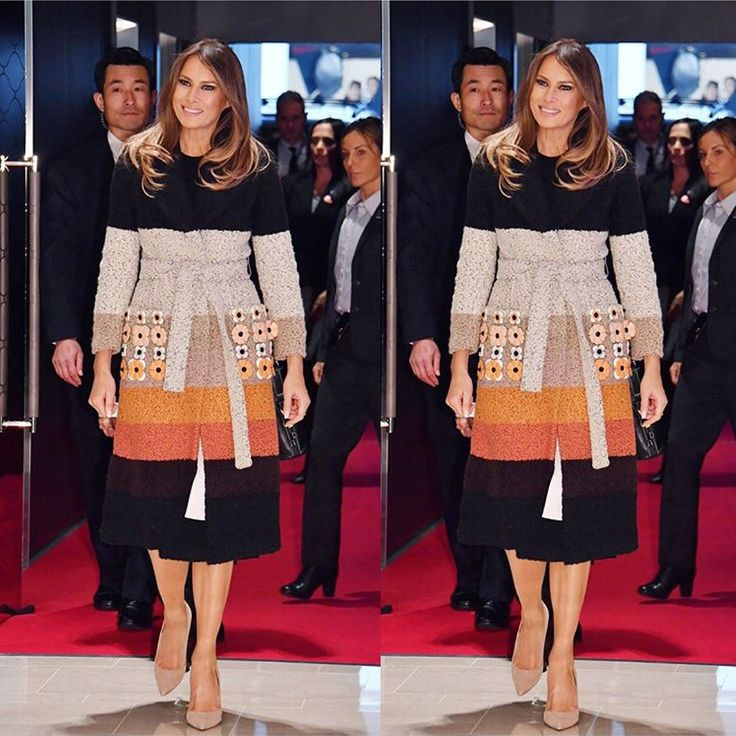 """2,345 Likes, 64 Comments - Melania Trump (@melaniatrump.style) on Instagram: """"First Lady Melania Trump exited Air Force One Sunday in Tokyo, Japan, dressed smartly in a coat by…"""""""