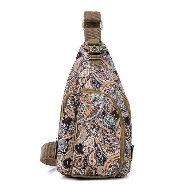 Women Flower Pattern Portable Casual Shoulder Bags Chest Bags