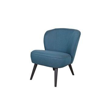 WOOOD fauteuil Sara petrol