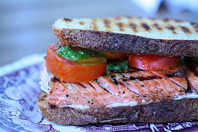 Grilled salmon sandwiches | Savory | Pinterest