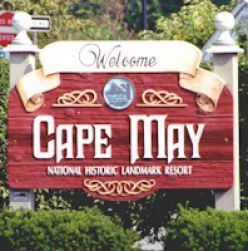 Welcome Sign - Cape May, NJ  haunted NJ